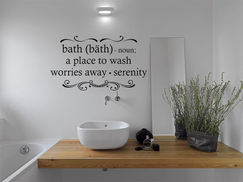 Bathroom Wall Art Sticker, Vinyl Transfer, Decal, Tattoo