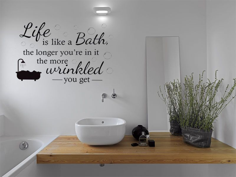bathroom wall quote life is like bath wall sticker decal wall sticker. Black Bedroom Furniture Sets. Home Design Ideas