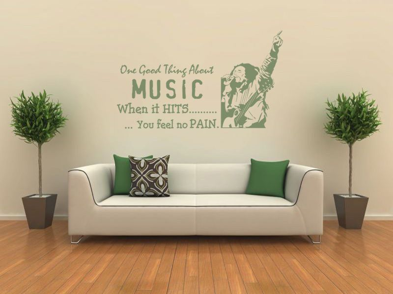 Bob Marley   When The Music Hits... Wall Art Quote, Wall Sticker, Modern  Decal Part 70