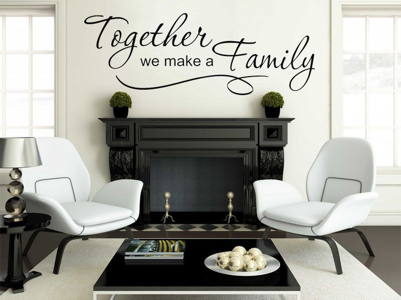 Family Wall Quote Together we make a family Vinyl Sticker Wall Art ...