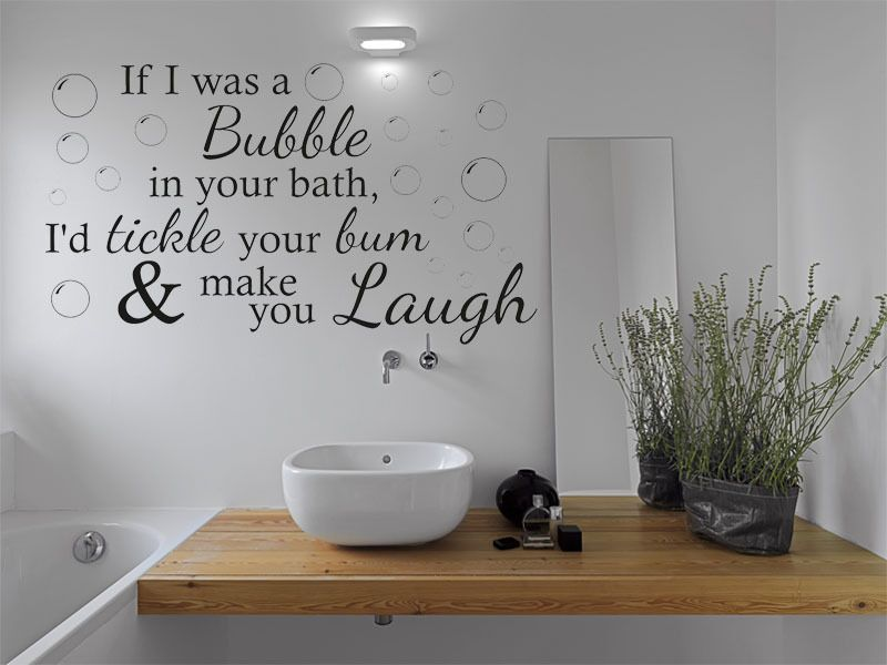 If I Was A Bubble Wall Art Quote Bathroom Sticker