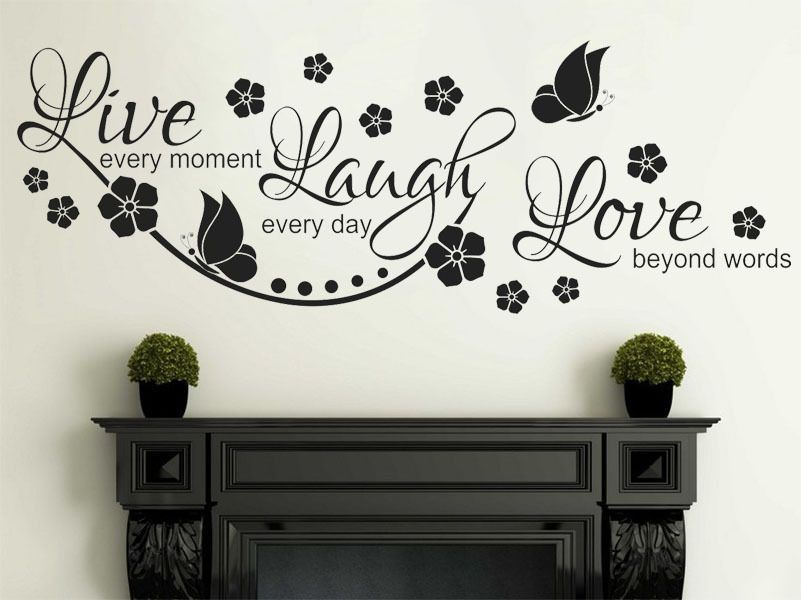 Wonderful Live Laugh Love Wall Quote Wall Sticker Vinyl Wall Art Home Decal Vinyl  Transfer