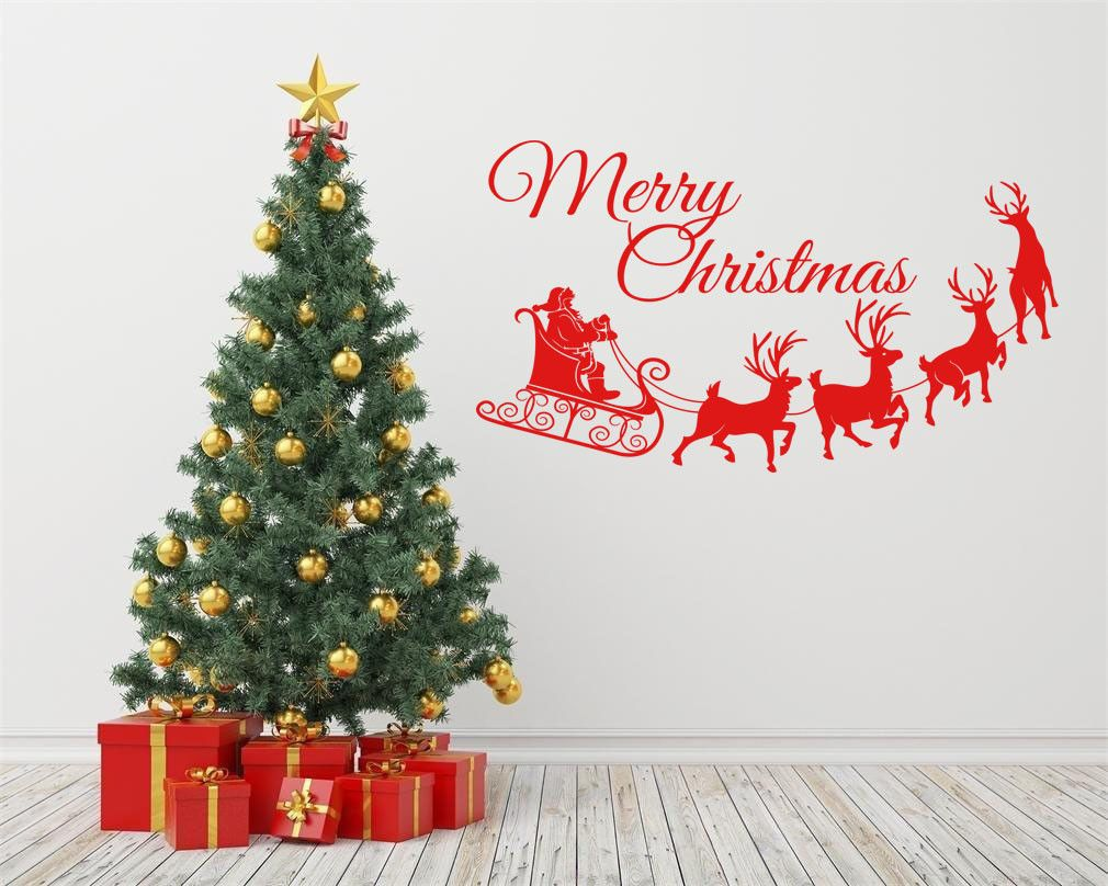 Merry Christmas Quote Wall Art Decal