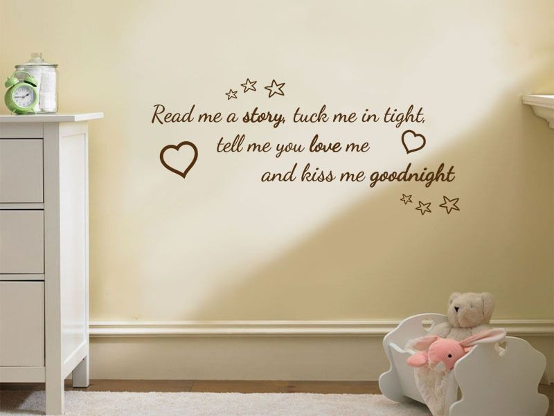nursery wall quote read me a story wall art sticker vinyl decal