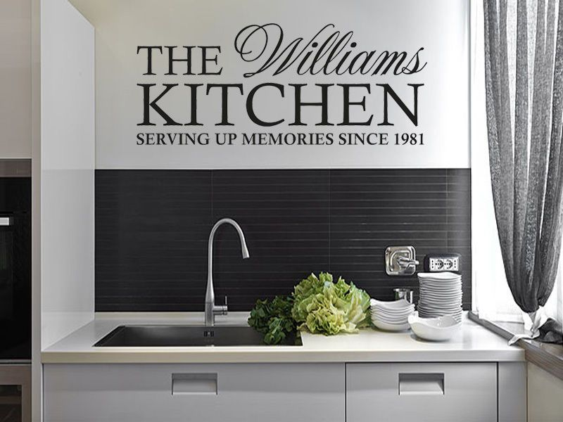 personalised family kitchen wall art quote wall sticker decal