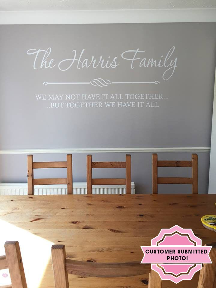 PERSONALISED Family Wall Quote Wall Art Sticker Modern Decal Vinyl
