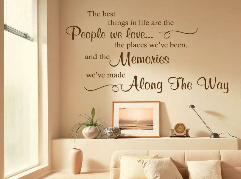 The Best Things In Life Are... Wall Art Quote Sticker Decal Modern ...