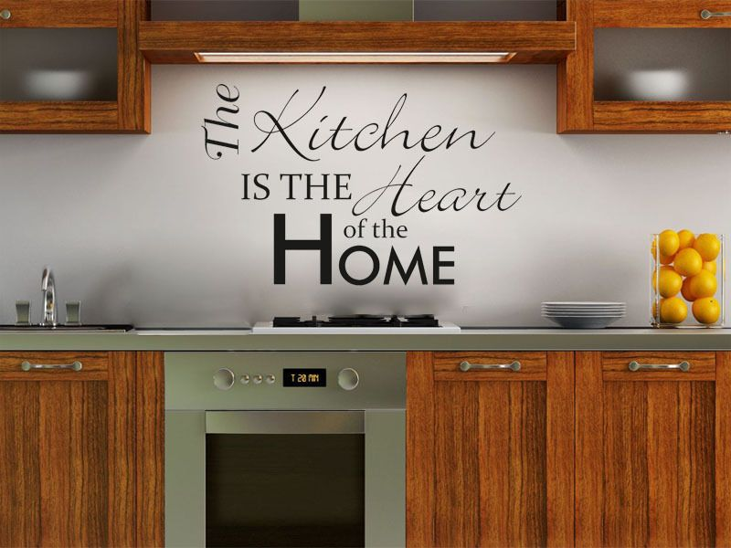 the kitchen is the heart of the home wall art sticker modern vinyl transfer. Black Bedroom Furniture Sets. Home Design Ideas