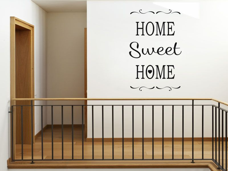 Vinyl wall quote home sweet home modern transfer wall sticker for Home sweet home quotes