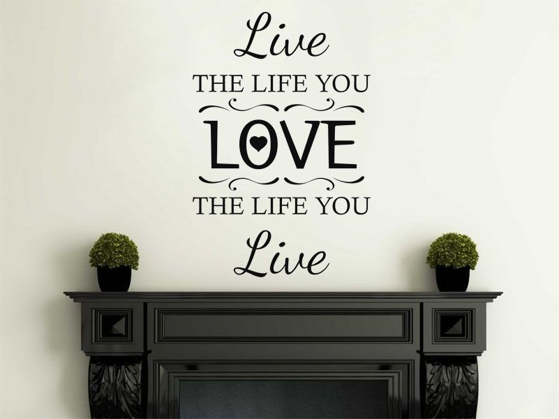 Wall art quote live the life you love wall sticker modern decal transfer