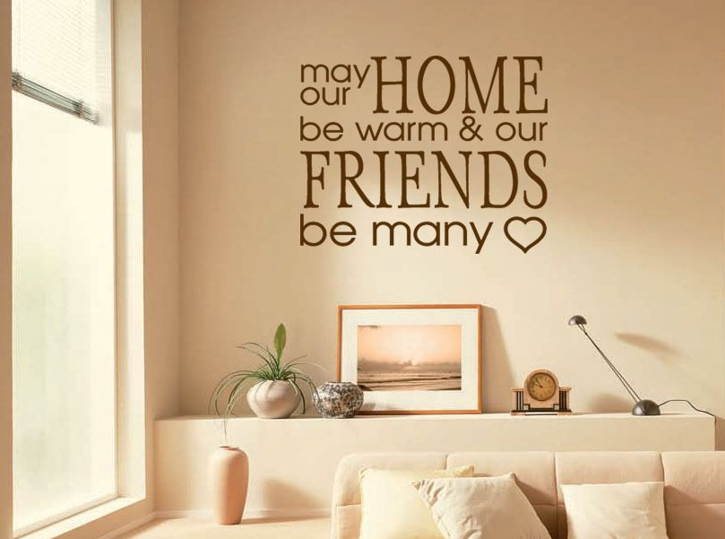 Wall Quote May Our Home.. Wall Art Sticker Modern Vinyl Decal Transfer.