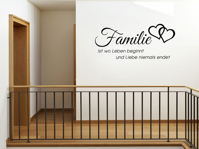 wandtattoo familie ist wo leben wand kunst zitat aufkleber moderne bertragu. Black Bedroom Furniture Sets. Home Design Ideas
