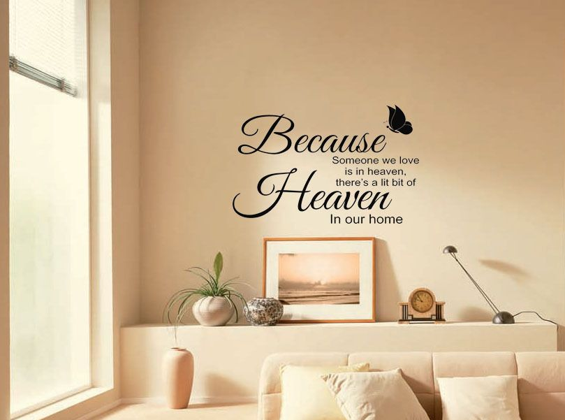 A Little Bit Of Heaven In Our Home Wall Quote Sticker Decal Transfer