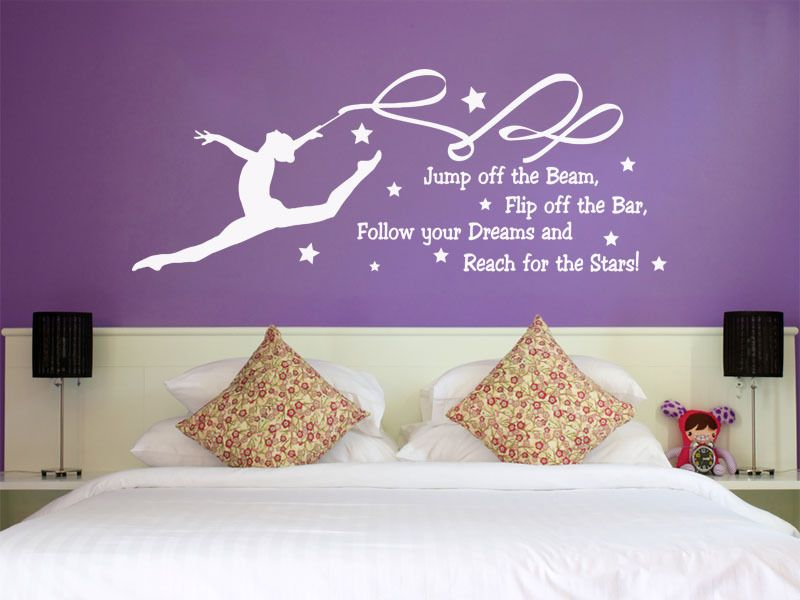 follow your dreams and reach for the stars wall quote vinyl wall sticker