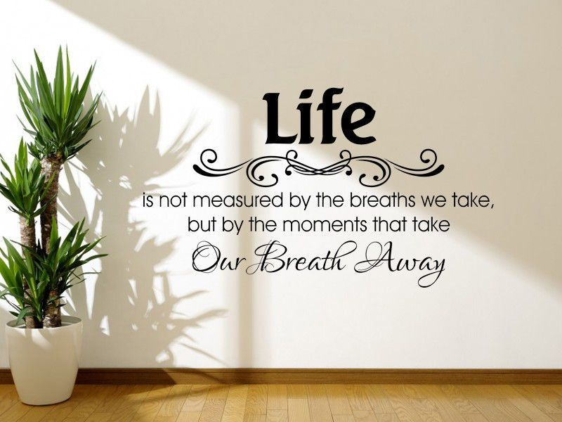 Life Is Not Measured Inspirational Quote Wall Art