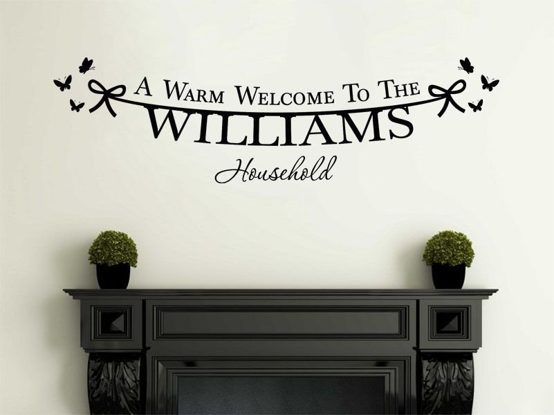 Personalised Family Welcome To Our Home Modern Wall