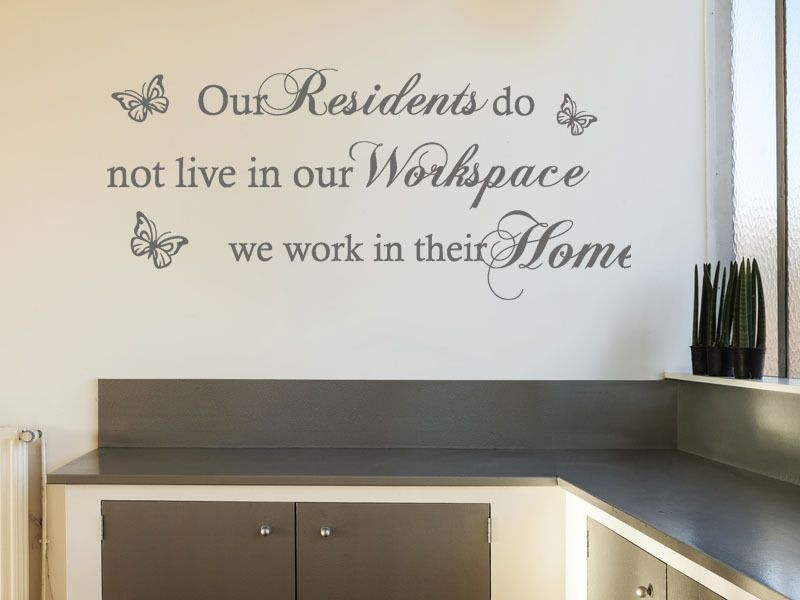care home wall sticker our residents wall art sticker decal transfer.