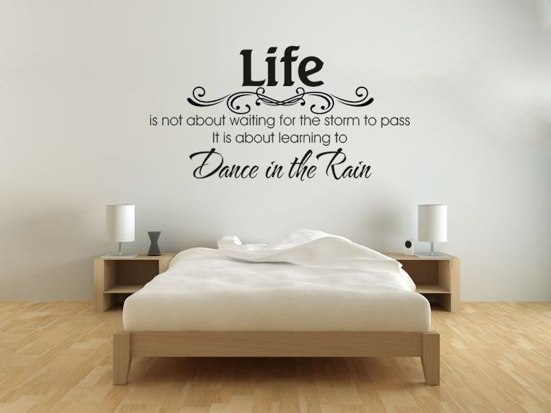 dance in the rain - wall art quote wall sticker decal vinyl transfer
