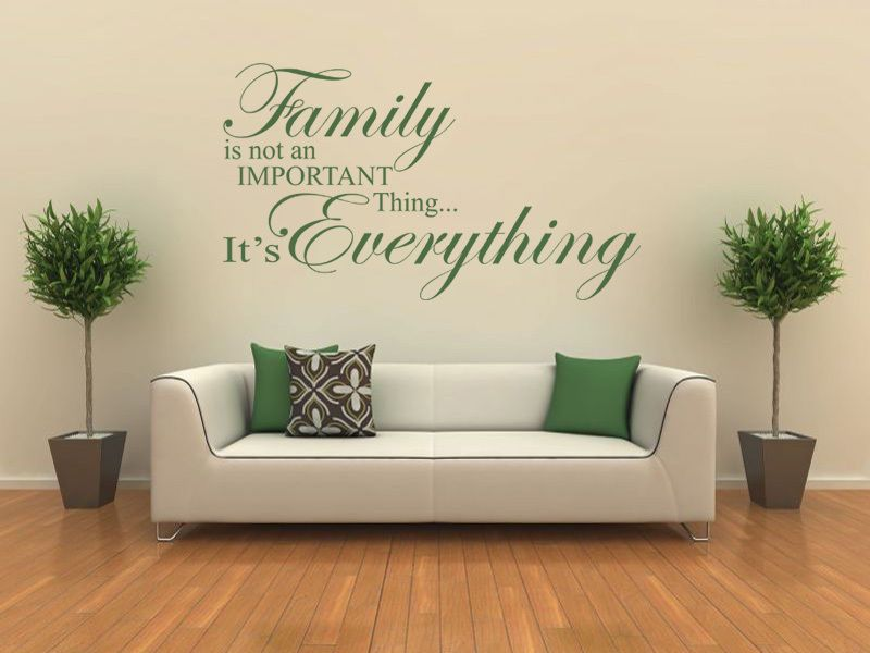 Family Is Everything   Wall Art Quote, Wall Sticker, Modern Vinyl Transfer