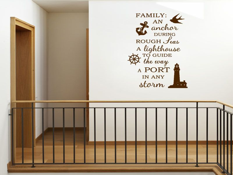 Family Wall Quote Family An Anchor Wall Art Sticker Vinyl Decal