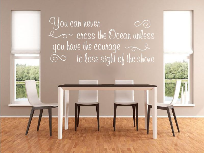 Inspirational Wall Quote Cross The Ocean Vinyl Sticker Wall Home