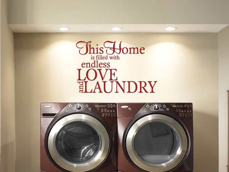 Laundry Wall Quote Endless Love Laundry Wall Art Sticker Decal Transfer