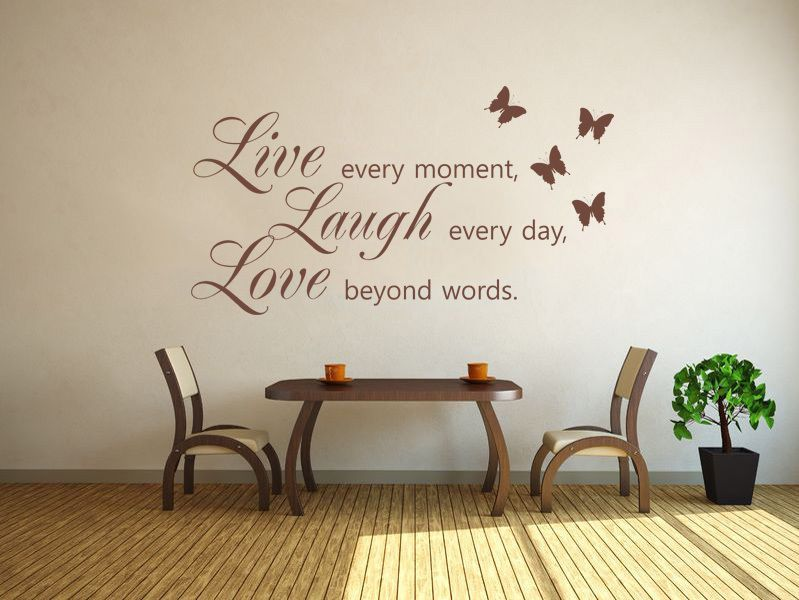 Live Laugh Love Wall Art Sticker Wall Sticker Decal Vinyl