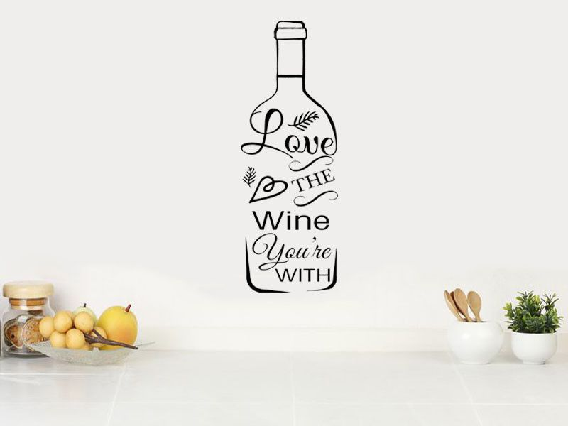 Wall Art Quote, Modern Transfer, PVC Decal, Home Decor, Wine