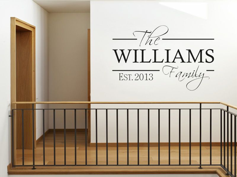 PERSONALISED Family Wall Art Quote U0026 Date, Modern Wall Sticker, Decal,  Transfer