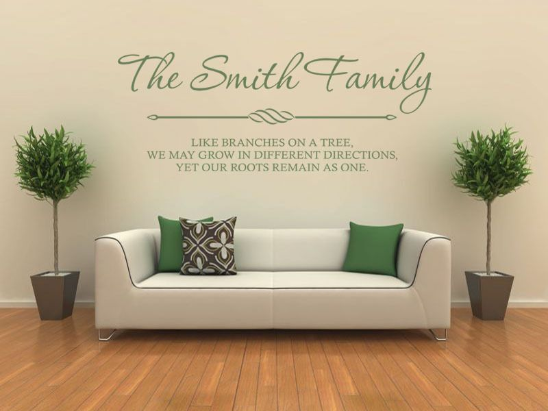 Personalised family wall art quote wall sticker decal modern transfer