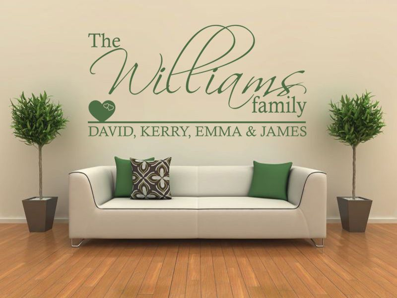 personalised family wall art quote wall sticker decal modern vinyl