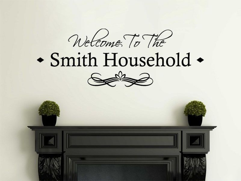 personalised family welcome to our home modern wall sticker decal
