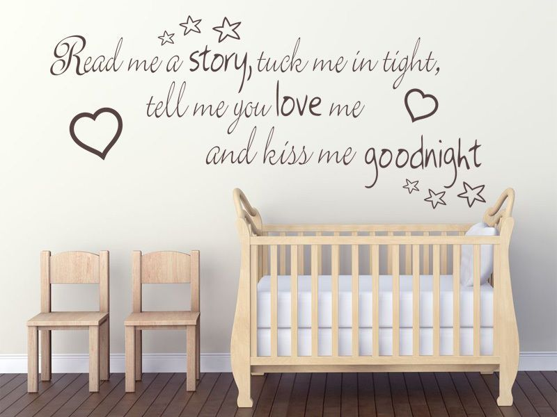 Read me a story tuck me in tight Childs Nursery Wall Art ...