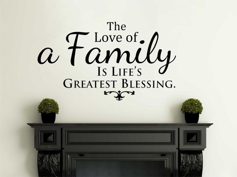 The Love Of Family... Wall Art Sticker, PVC Decal, Vinyl Transfer, Home  Decor
