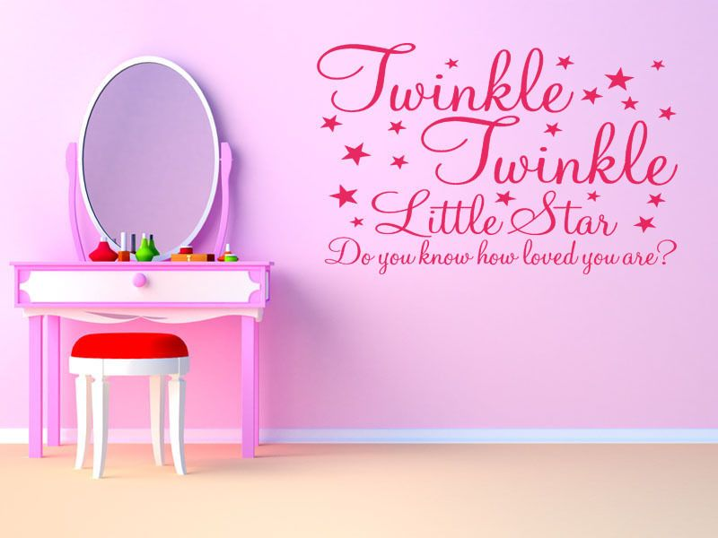 Twinkle Twinkle Little Star Childs Bedroom Nursery Wall Art Decal Wall Sticker & Twinkle Twinkle Little Star Childs Bedroom Nursery Wall Art Decal ...