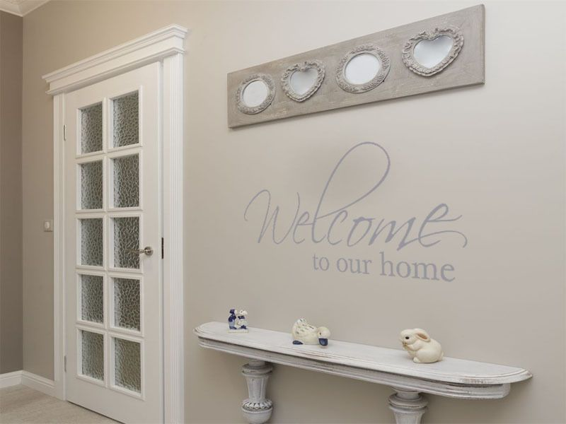 Wall Art Sticker Welcome To Our Home... Wall Art Quote Decal Modern ...